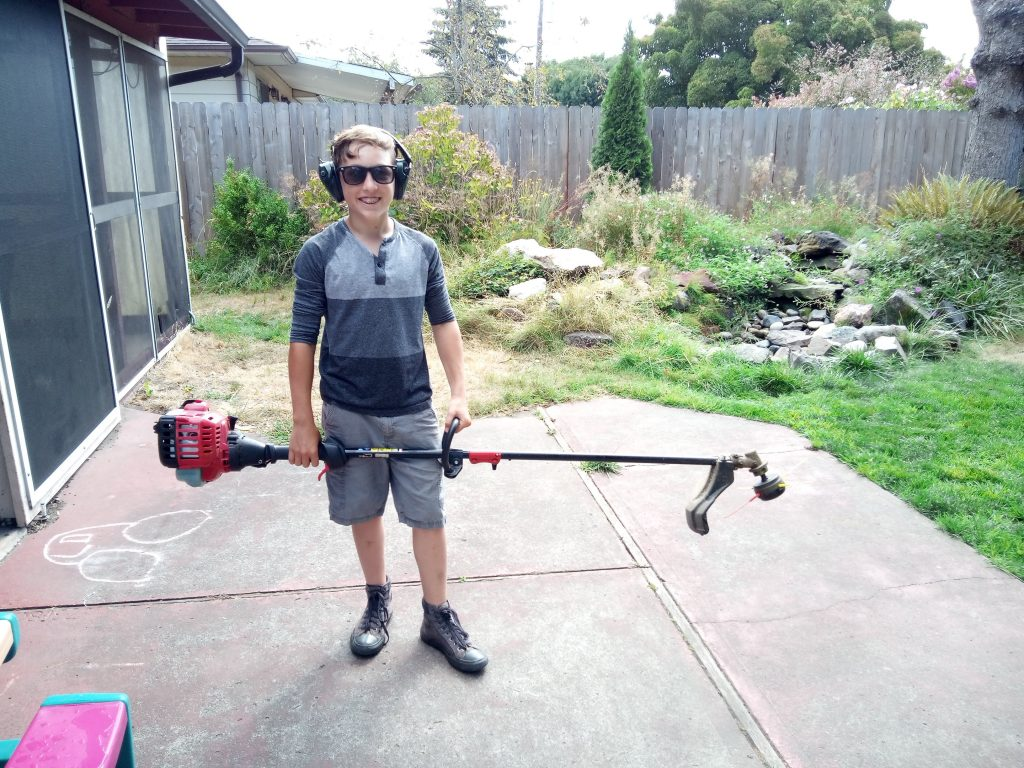 Rick with his weed wacker 1