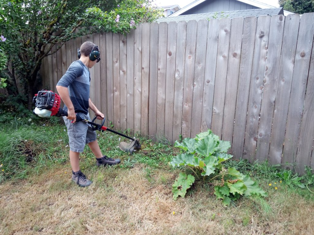 Rick with his lawnmower 3