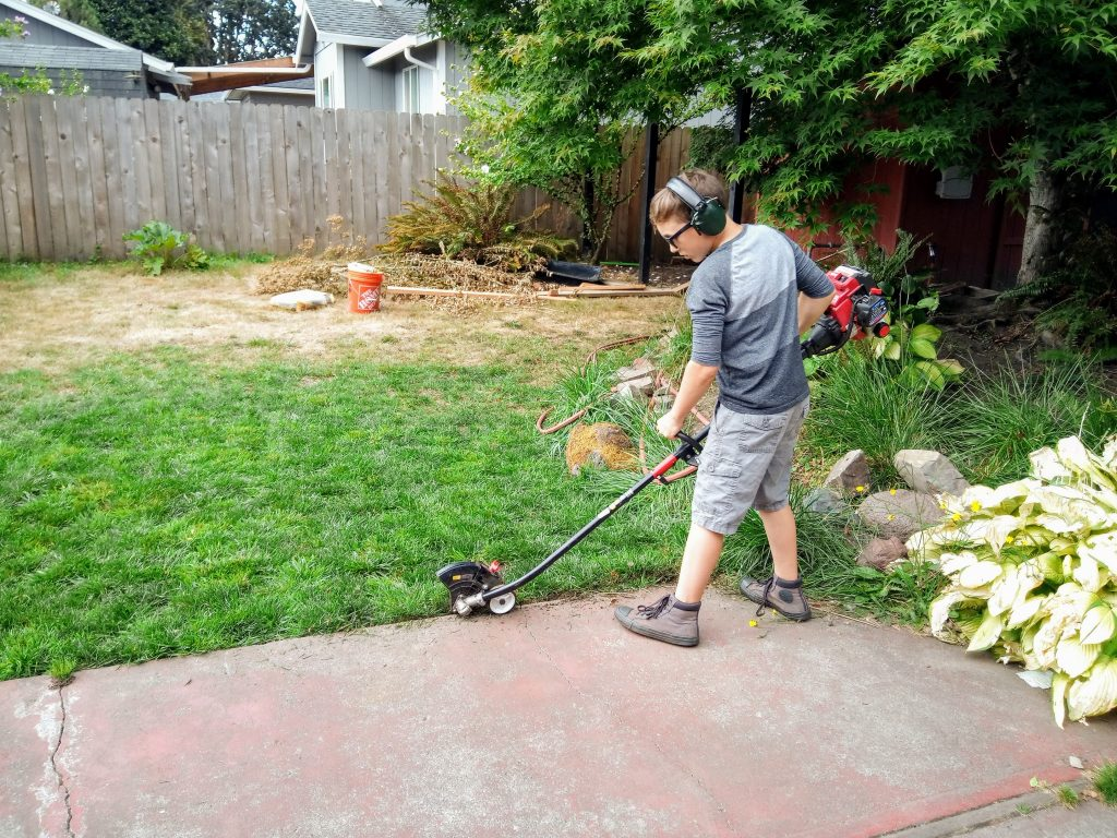 rick with his edger 2