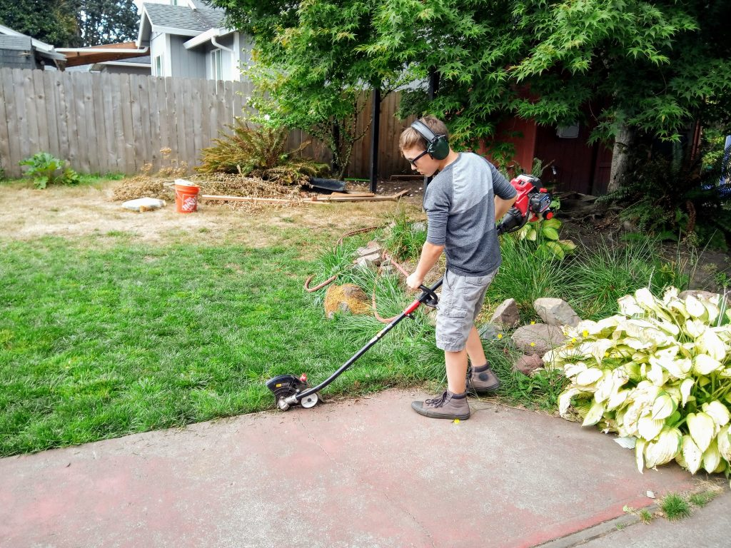 Rick with his edger 3